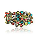  Vivid Peacock Design Ladies' Bracelet In Copper Plating Alloy