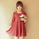 Collar Baby Doll Chiffon Dress