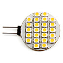 Foco de 24 LED SMD en Placa de Luz Blanca Tibia de 50 - 60 lm G4 3528 (12v, 1-1.5W)