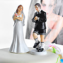 Soccer Groom & Exasperated Bride Wedding Cake Topper
