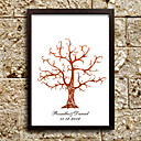 Personalized Fingerprinting Paint - Brown Tree (Includes 6 Ink Colors, Frame Not Included)
