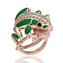 Gorgeous Cubic Zirconia 18K Gold Plated Frog Fashion Ring (More Colors)