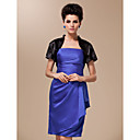 Short Sleeve Silk Satin Special Occasion Wrap