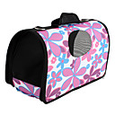 Flower Pattern Style Pet Carrier (Medium, Pink)