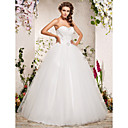 Clearance!Ball Gown Sweetheart Floor-length Organza Wedding Dress