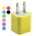 110-240v Chargeur USB AC pour iphone 5 &amp; iPhone 4/4S (couleurs assorties)