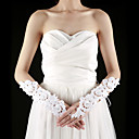 Lace Fingerless Elbow Length With Rhinestone / Appliques Bridal Gloves (More Colors)