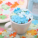 Clover Shaped Paper Confetti - Pack of 350 Pieces (Random Color)
