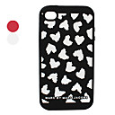 Unique Heart Shaped Silicone Case for iPhone 4 and 4S (Assorted Colors)