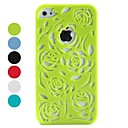 Hollow-out Style Flower Pattern Hard Case for iPhone 4 and 4S (Assorted Colors)