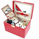 Creative Alligatoring Leatherette Ladies'Makeup Jewelry Box(More Colors)