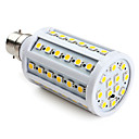B22 SMD 5050 60LED 800LM 10W Warm White Corn Bulbs (220-240V)