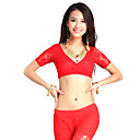 Dancewear Lace Belly Dance Short Sleeve Top For Ladies More Colors