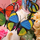 Beautiful Blue And Yellow Plastic Butterfly - Set Of 6