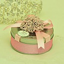 Lovely Round Favor Tins With Bow - Set of 6(More Colors)