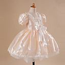 Ball Gown Scoop Floor-length Satin Flower Girl Dress