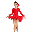Dancewear Spandex/Chiffon Latin Dance Dress For Children