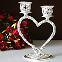 Silver Plated Heart Candle Holder