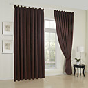 (Two Panels) Classic Stripe Embossed Blackout Curtains