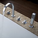 Sprinkle by Lightinthebox - Contemporary Brass Tub Faucet with Hand Shower - Chrome Finish