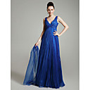 Clearance!Organza A-line Floor-length Evening Dress inspired by Maria Grazia Cucinotta at Venice Film Festival