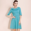 TS Folded Collar 3/4 Sleeve Dress (More Colors)