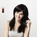 Capless Long Straight Black 100% Human Hair Wig 5 Colors To Choose