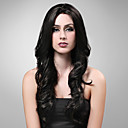 main attache dans le style lace front supplmentaire de qualit  long synthtique de haute aspect naturel noir avec perruque de cheveux rouges europ
