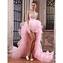 Ball Gown Sweetheart Asymmetrical Organza Over Taffeta Luxurious Dresses