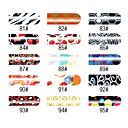 16 stuks Nail Foil Art Frank Girl Full Cover Stickers Manicure