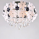 Comtemporary Metal Flush Mount with 5 Lights in Aluminum Floral Design