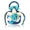 Pretty Silk Evening Bag/Top Handle Bag with Flower(More Colors)