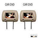 7 Inch Digital Touch Screen Headrest DVD Player with TV,Game (1 Pair)