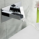 Sprinkle® by Lightinthebox - Widespread Waterfall Bathroom Sink Faucet Chrome Finish
