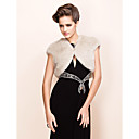 Elegant Short Sleeves Faux Fur Party / Evening Jacket / Wrap