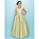 Ball Gown Halter Floor-length Taffeta Junior Bridesmaid Dress