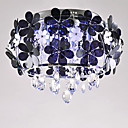 Comtemporary Flush Mount with 5 Lights in Aluminum Floral Design