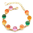 Colorful Alloy With Imitation Pearl Women's Bracelet