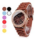 Rose Gold Women's Plastic Analog Quartz Wrist Watch (Assorted Colors)