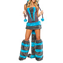 Sexy Adulto Cheshire Cat Woman Halloween Costume (5 Pieces)