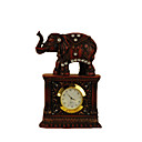 Elephant Table Clock in Polyresin