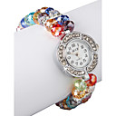 Charmant Multicolor Lampwork Glas Ronde Women 'Watch