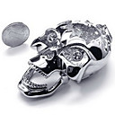 Men's Diamond Skull Pendant(Free Chain)(8.4*2.5*4CM)