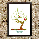Personalized Fingerprint Painting - Love Birds (Includes 6 Ink Colors, Frame Not Included)