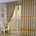 (Two Panels) Jacquard Floral Polyester Energy Saving Curtains