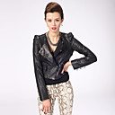 Fabulous Lambskin Leather Long Sleeve Women's Fashion/Career Coat