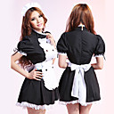Sweet Cindy Black and White Ruffle Polyester Maid Suit