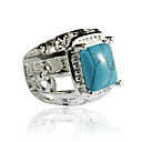 Elegant Alloy Square Imitation Gem Stone Ring(More Colors)
