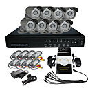 Surveillance Security System met 8 Outdoor Night Vision Camera (Netwerk H.264 Standalone DVR)