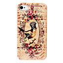 Crown Bird Pattern Hard Case for iPhone 4 and 4S